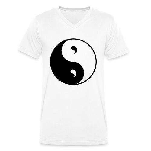 Ying & Yang - Männer Bio-T-Shirt mit V-Ausschnitt von Stanley & Stella
