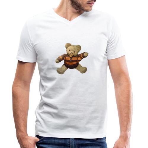 Teddybär - orange braun - Retro Vintage - Bär - Männer Bio-T-Shirt mit V-Ausschnitt von Stanley & Stella