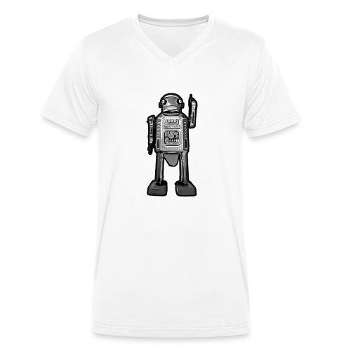 Cooles Vintage Roboter Sci-fi T-Shirt Geschenkidee - Männer Bio-T-Shirt mit V-Ausschnitt von Stanley & Stella