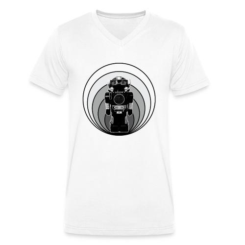 Cooles 80er Retro Roboter T-Shirt Scifi Geschenk - Männer Bio-T-Shirt mit V-Ausschnitt von Stanley & Stella