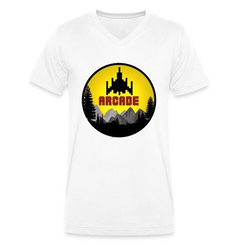 Cooles Vintage Gamer Arcade T-Shirt Old School Fun - Männer Bio-T-Shirt mit V-Ausschnitt von Stanley & Stella