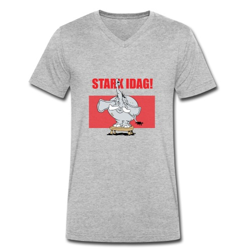 Stark idag - Ekologisk T-shirt med V-ringning herr från Stanley & Stella