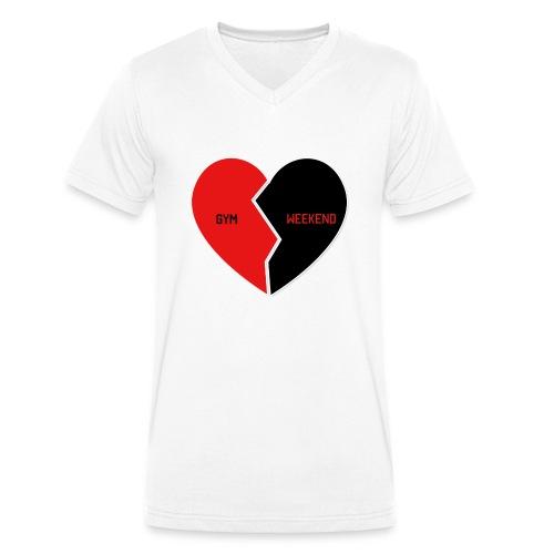 Heart for Gym - Männer Bio-T-Shirt mit V-Ausschnitt von Stanley & Stella