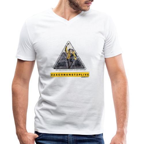 TRIANGOLO VASCO - T-shirt ecologica da uomo con scollo a V di Stanley & Stella