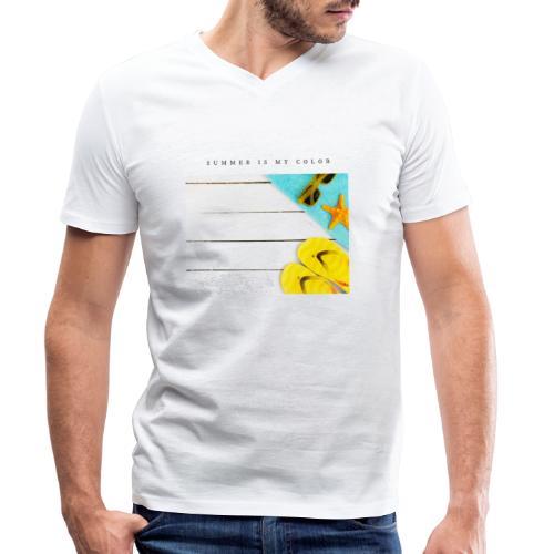 summer is my color - T-shirt ecologica da uomo con scollo a V di Stanley & Stella