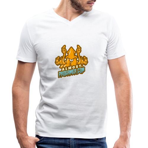 gaming logo maker featuring a squid monster 1847f - T-shirt ecologica da uomo con scollo a V di Stanley & Stella