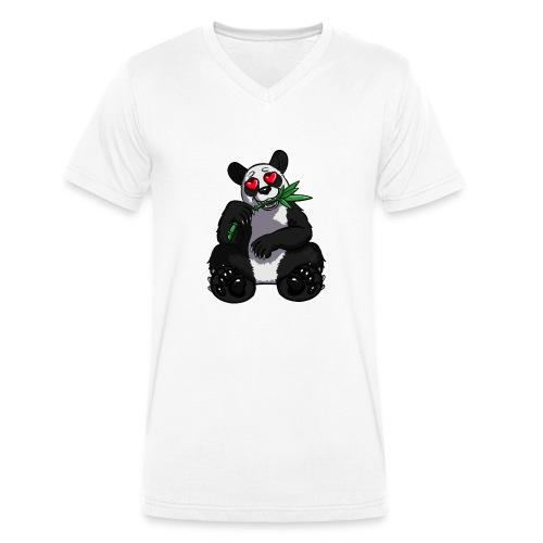 Team Panda - Männer Bio-T-Shirt mit V-Ausschnitt von Stanley & Stella