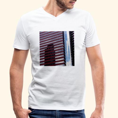 Riflessi americani - T-shirt ecologica da uomo con scollo a V di Stanley & Stella