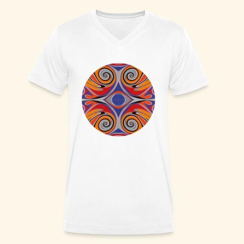 Ink drop - T-shirt ecologica da uomo con scollo a V di Stanley & Stella