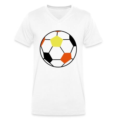 Fußball Deutschland - Männer Bio-T-Shirt mit V-Ausschnitt von Stanley & Stella