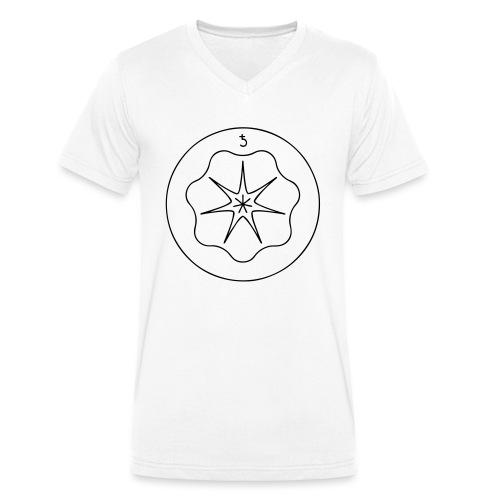 Rudis Saturn Siegel - Männer Bio-T-Shirt mit V-Ausschnitt von Stanley & Stella