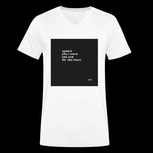 scars - Men's Organic V-Neck T-Shirt by Stanley & Stella