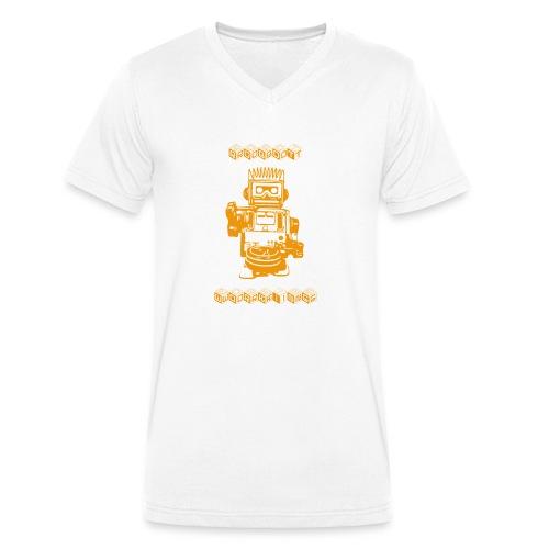 Cooles Vintage Roboter T-Shirt Geschenkidee - Männer Bio-T-Shirt mit V-Ausschnitt von Stanley & Stella