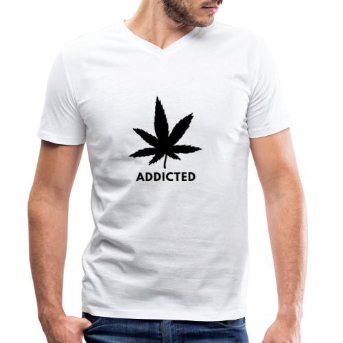 Addicted - Mannen bio T-shirt met V-hals van Stanley & Stella