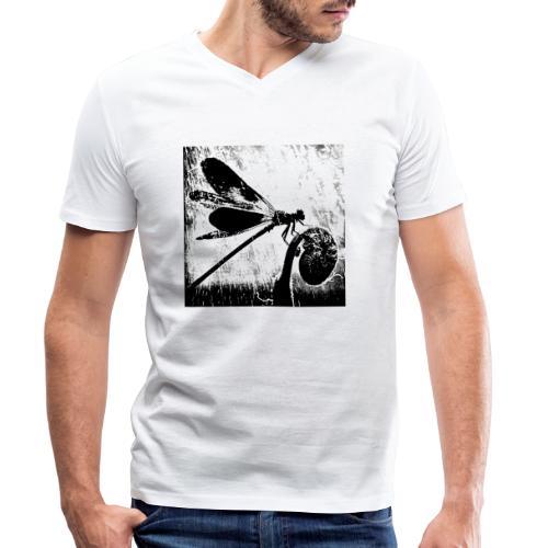 Libelle - Männer Bio-T-Shirt mit V-Ausschnitt von Stanley & Stella
