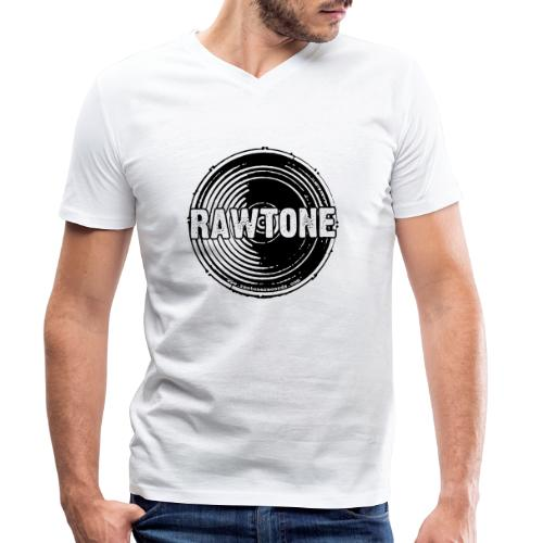 Rawtone Records logo - Men's Organic V-Neck T-Shirt by Stanley & Stella
