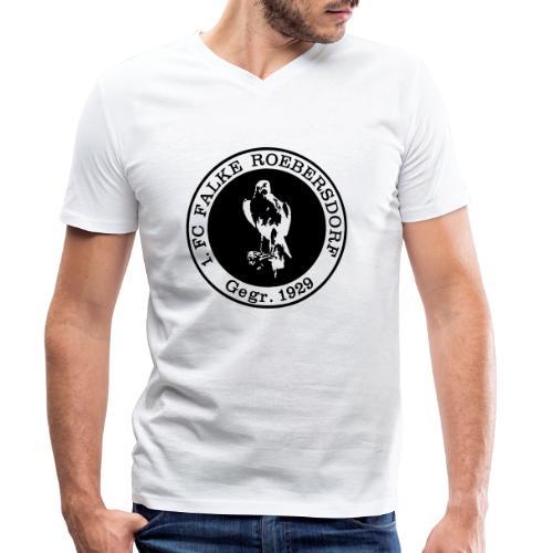 VORNE FCR LOGO RETRO - Männer Bio-T-Shirt mit V-Ausschnitt von Stanley & Stella