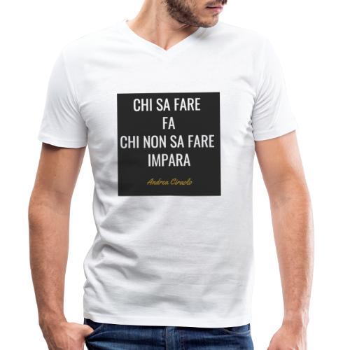 Ciraolo - T-shirt ecologica da uomo con scollo a V di Stanley & Stella