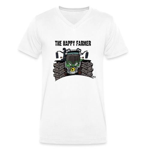 the happy farmer green - Mannen bio T-shirt met V-hals van Stanley & Stella