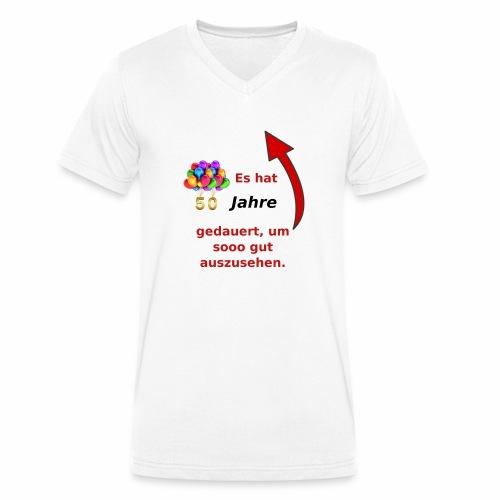 T-Shirt zum 50. Geburtstag Herren Spruch - Männer Bio-T-Shirt mit V-Ausschnitt von Stanley & Stella