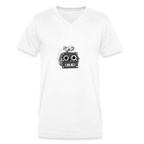 Cooles lustiges Sci-Fi T-Shirt mit vintage Robobot - Männer Bio-T-Shirt mit V-Ausschnitt von Stanley & Stella