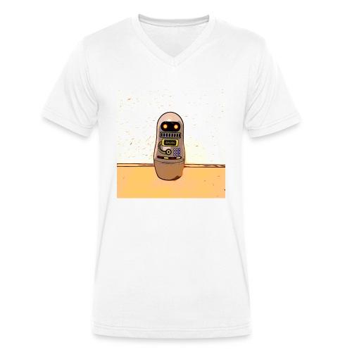 Lustiges Scifi Robot T-Shirt retro Geschenkidee - Männer Bio-T-Shirt mit V-Ausschnitt von Stanley & Stella