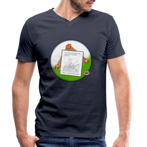 Petrus trifft Jesus - zu viele Fische ! - Männer Bio-T-Shirt mit V-Ausschnitt von Stanley & Stella