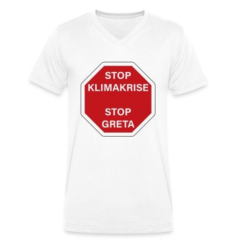 STOP GReTA - Männer Bio-T-Shirt mit V-Ausschnitt von Stanley & Stella