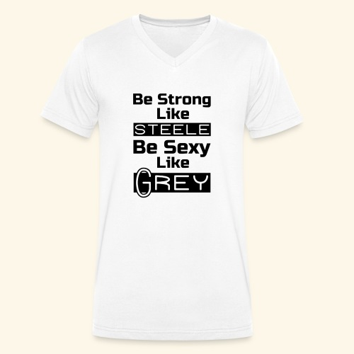 strong sexy - Men's Organic V-Neck T-Shirt by Stanley & Stella