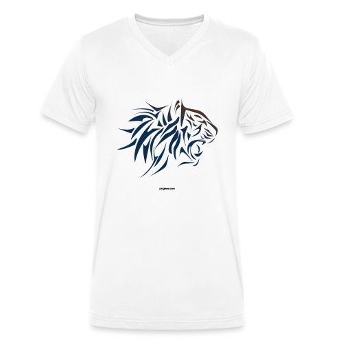 tiger vector - Camiseta ecológica hombre con cuello de pico de Stanley & Stella