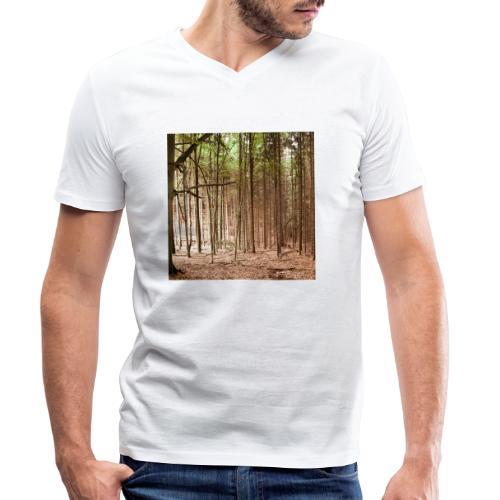 Wald Bäume Herbst Natur Waldidylle Waldleben - Männer Bio-T-Shirt mit V-Ausschnitt von Stanley & Stella