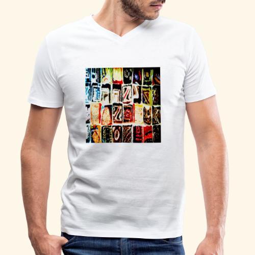 Mosaico - T-shirt ecologica da uomo con scollo a V di Stanley & Stella