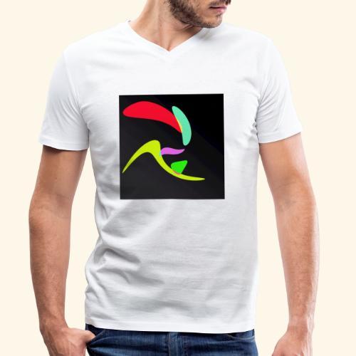 Pop art70 - T-shirt ecologica da uomo con scollo a V di Stanley & Stella