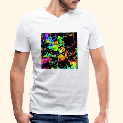 Fiamme colorate - T-shirt ecologica da uomo con scollo a V di Stanley & Stella