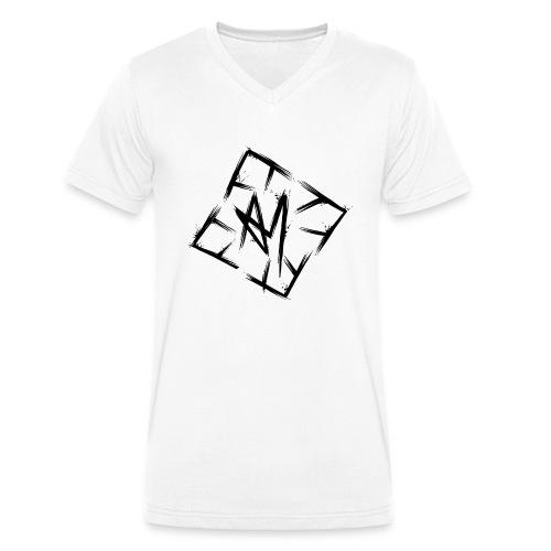 Across Yourself - Logo black transparent - Men's Organic V-Neck T-Shirt by Stanley & Stella