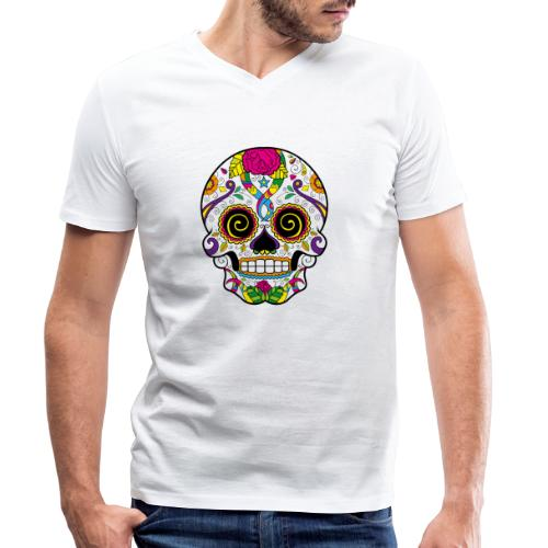 skull3 - T-shirt ecologica da uomo con scollo a V di Stanley & Stella