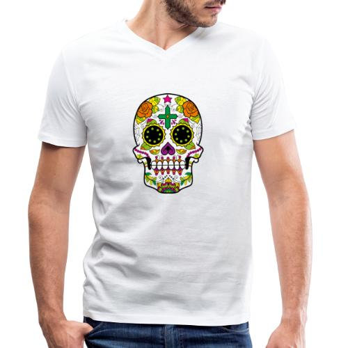 skull4 - T-shirt ecologica da uomo con scollo a V di Stanley & Stella