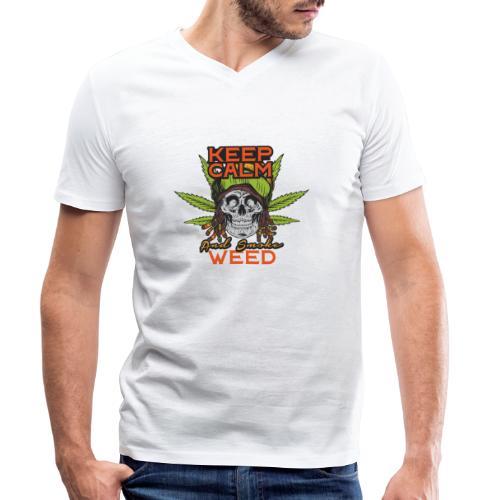 Skulls set 12 - T-shirt ecologica da uomo con scollo a V di Stanley & Stella