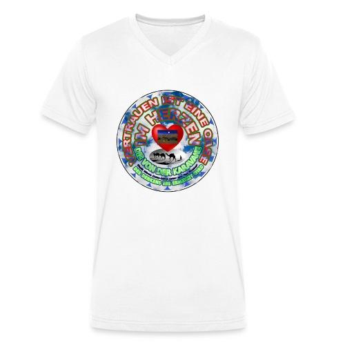 Oase im Herzen - Männer Bio-T-Shirt mit V-Ausschnitt von Stanley & Stella