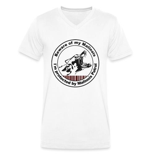 Malinois Patrol - Männer Bio-T-Shirt mit V-Ausschnitt von Stanley & Stella