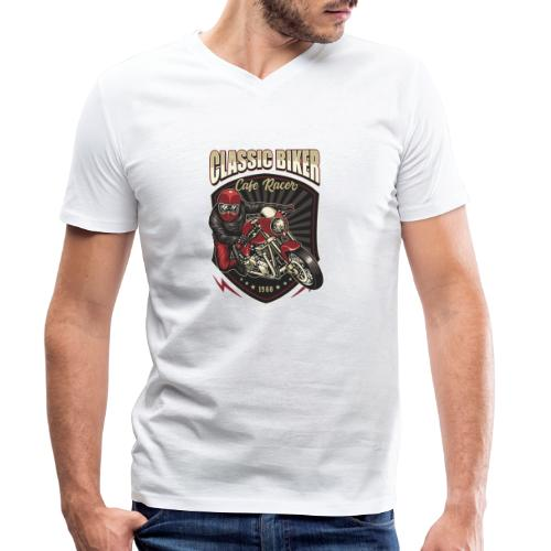 Classic Biker - T-shirt ecologica da uomo con scollo a V di Stanley & Stella