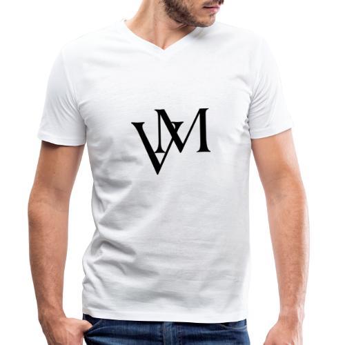 Lettere VM - T-shirt ecologica da uomo con scollo a V di Stanley & Stella