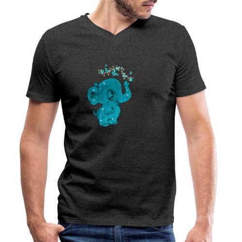 Elefante - T-shirt ecologica da uomo con scollo a V di Stanley & Stella