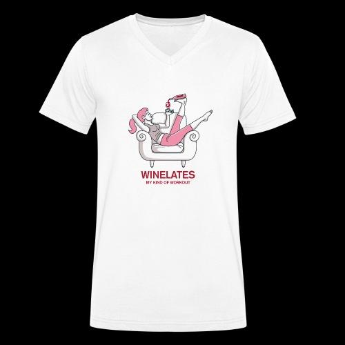 Winelates - my kind of workout - Männer Bio-T-Shirt mit V-Ausschnitt von Stanley & Stella