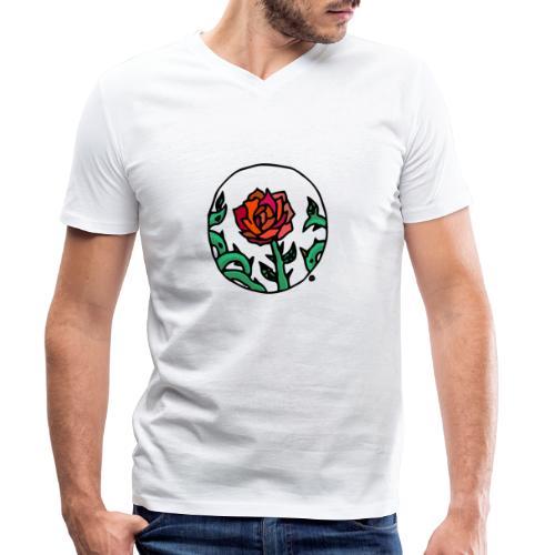 Rosa Cameo - Männer Bio-T-Shirt mit V-Ausschnitt von Stanley & Stella