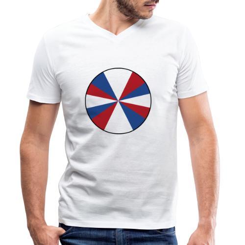 Geuzenvlag NL Nederland - Mannen bio T-shirt met V-hals van Stanley & Stella