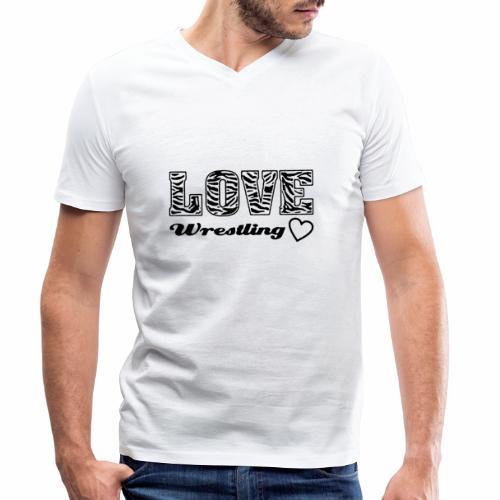 Black Love Wrestling - Männer Bio-T-Shirt mit V-Ausschnitt von Stanley & Stella