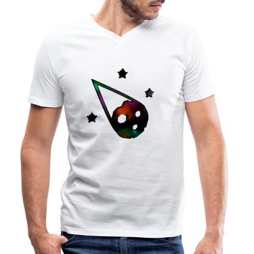 logo interestelar - Camiseta ecológica hombre con cuello de pico de Stanley & Stella