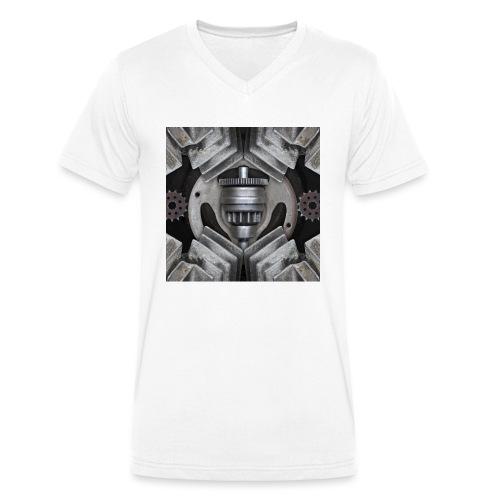metalen motor onderdelen - Mannen bio T-shirt met V-hals van Stanley & Stella