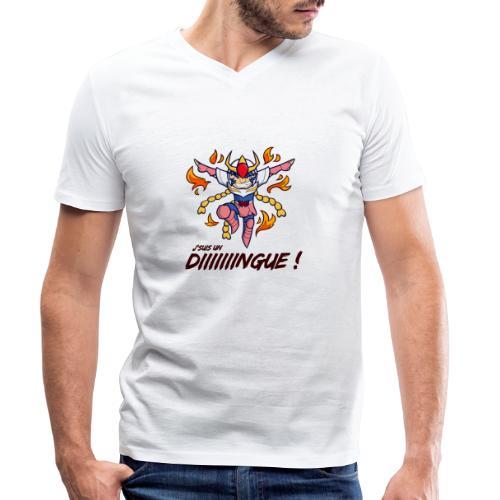 Ikki - J'suis un dingue - T-shirt bio col V Stanley & Stella Homme